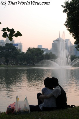 Lovers at Lumphini park